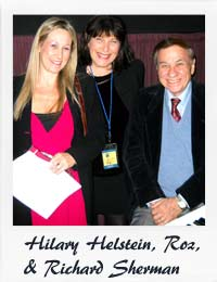 Roz with Hilary Helstein & Richard Sherman