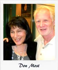 Roz with Happy Days actor Don Most